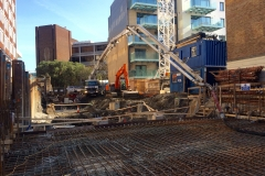 Ground Slab for 9 Story Office Block, Ballsbridge, Dublin - Manley Construction