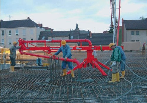schwing placing booms